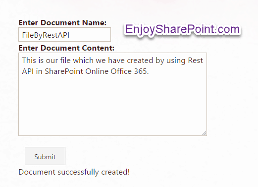 Create and delete file using Rest API in SharePoint