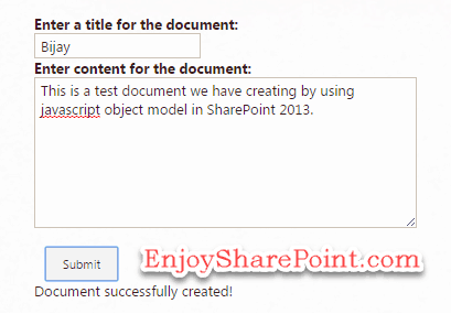 create file using jsom in sharepoint
