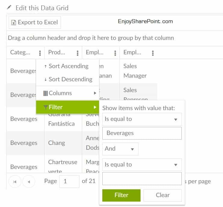 Collabion DataGrid For SharePoint 2013