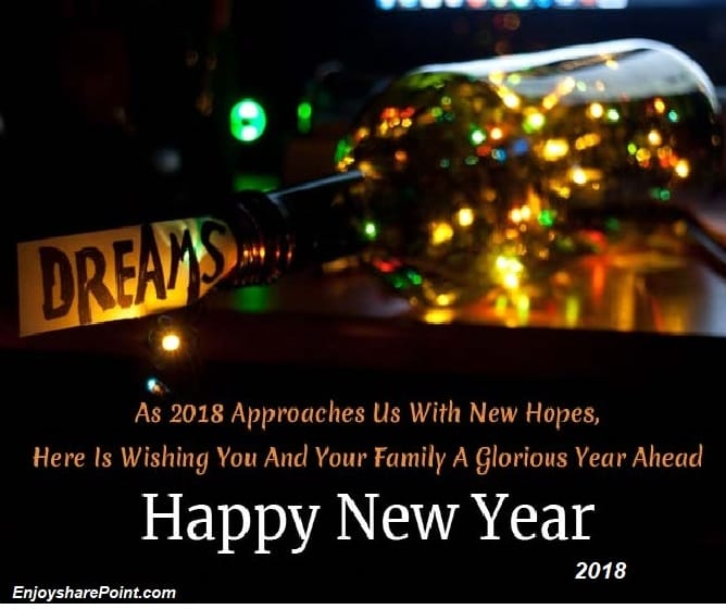 Wish you all a Happy New Year 2018 from EnjoySharePoint Team