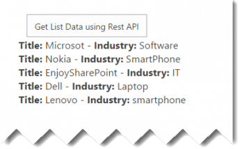 Retrieve list items using Rest API in SharePoint Online