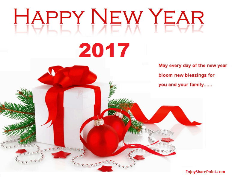 EnjoySharePoint wishes you all Happy New Year 2017