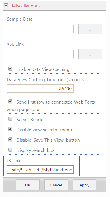 JSLink in SharePoint Online and Customize List View Web Parts