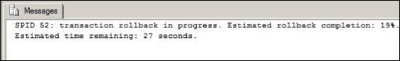 Check SQL Server Rollback Status