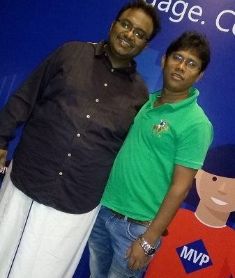With Deepak, the man behind the successful event...