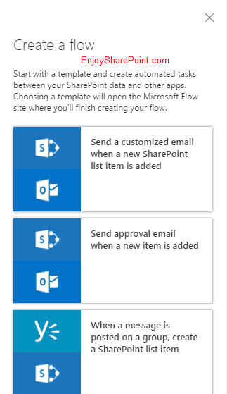 Microsoft Flow demo in SharePoint Online Office 365