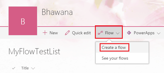 Microsoft Flow in SharePoint Online Office 365
