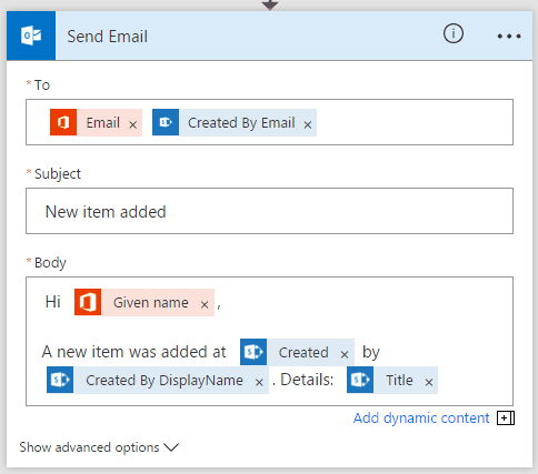 Working with Microsoft Flow in SharePoint Online Office 365 and Demo on Send a customized email when a new SharePoint list item is added