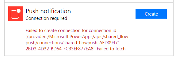 Failed to create connection for connection id
