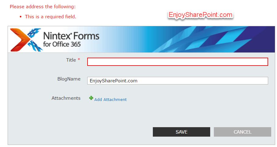 nintex forms validation rules examples