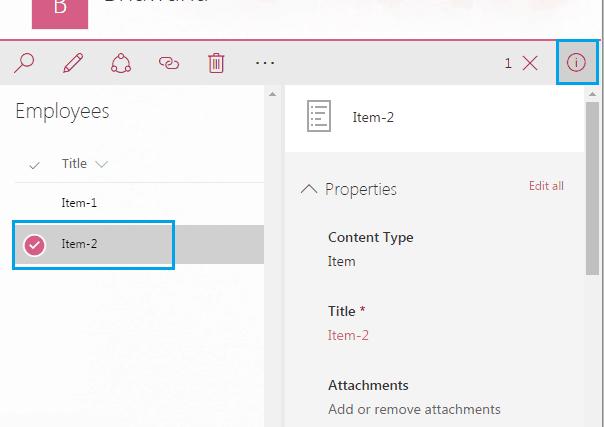 Morden looks Office 365 SharePoint List.