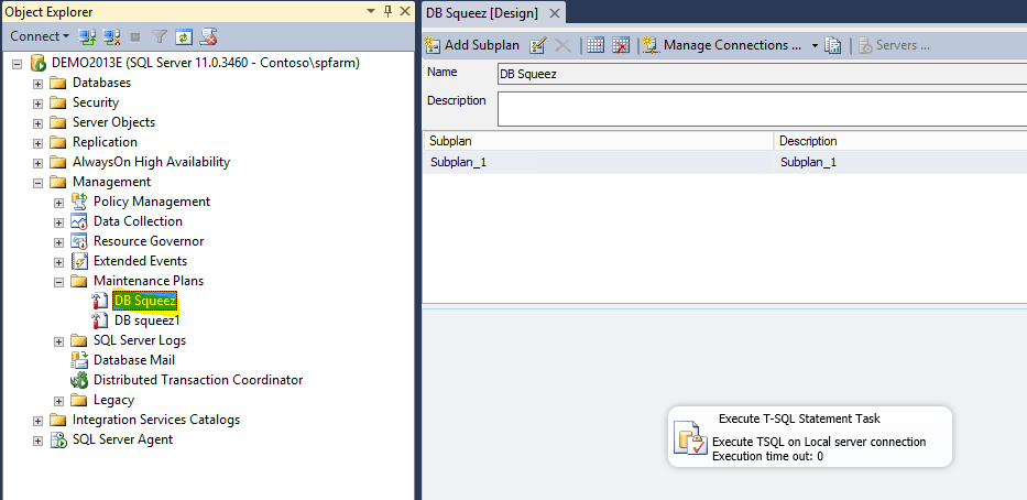 Package DB Squeez failed