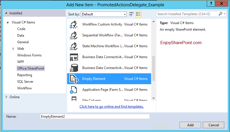 sharepoint 2013 promoted actions delegate control