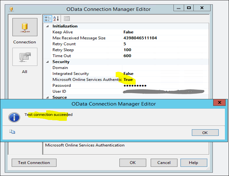 ssis odata source connector with sharepoint online