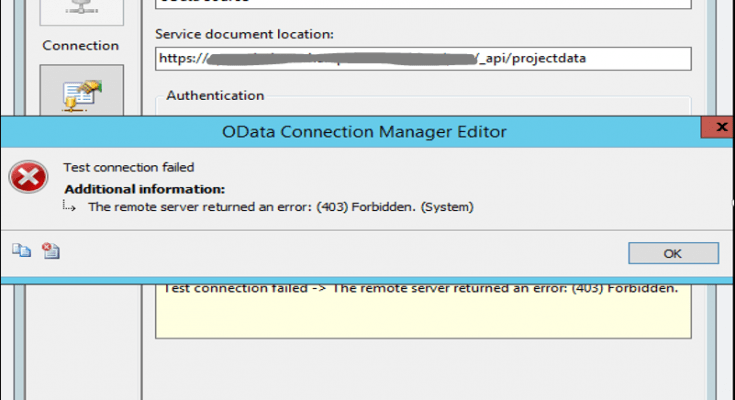 SSIS OData Source Connector with SharePoint Online Authentication