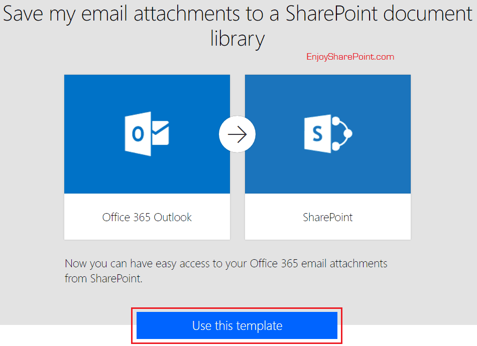 microsoft flow save email attachment to sharepoint