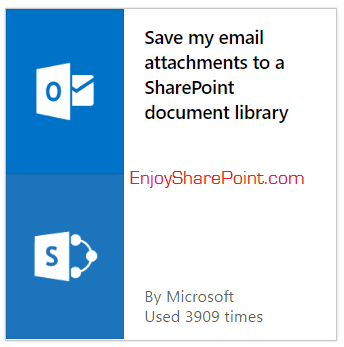 save my email attachments to a sharepoint document library microsoft flow