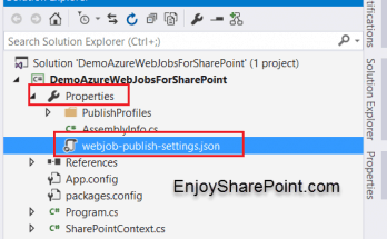 How to Schedule Azure WebJobs in Visual Studio 2015 for SharePoint Onine?