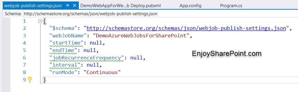 schedule webjobs in sharepoint
