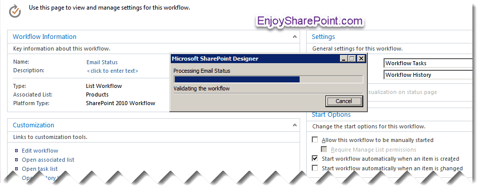 sharepoint designer 2010 workflow send email