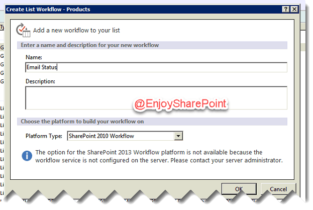 sending email using workflow sharepoint