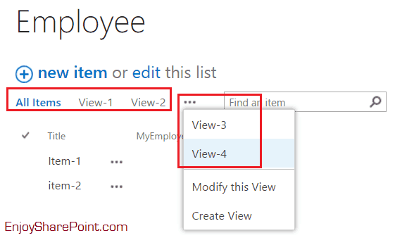 Display more then three views in SharePoint 2013