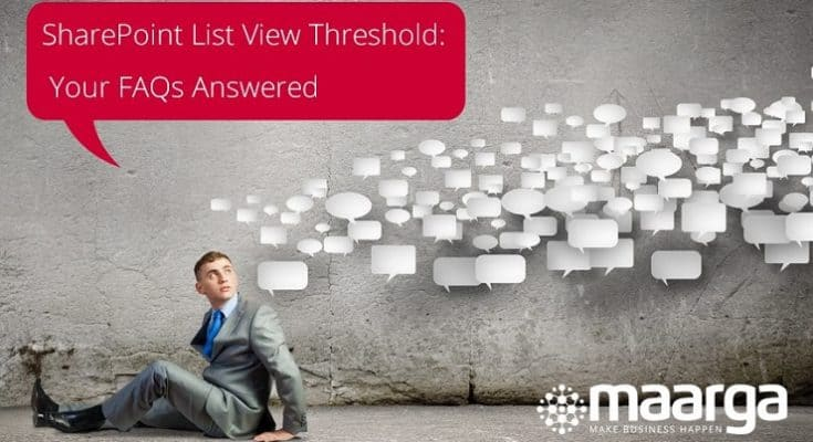 SharePoint List Item Threshold tips