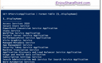 How to get all service applications using PowerShell in SharePoint 2016?