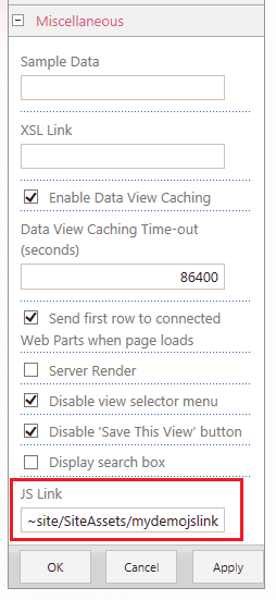jslink sharepoint 2013 examples