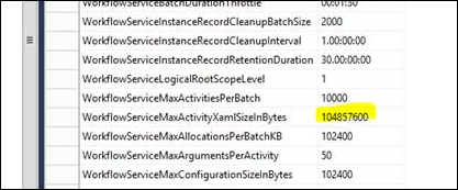 Sharepoint 2013 The total size of the activity XAML is greater than