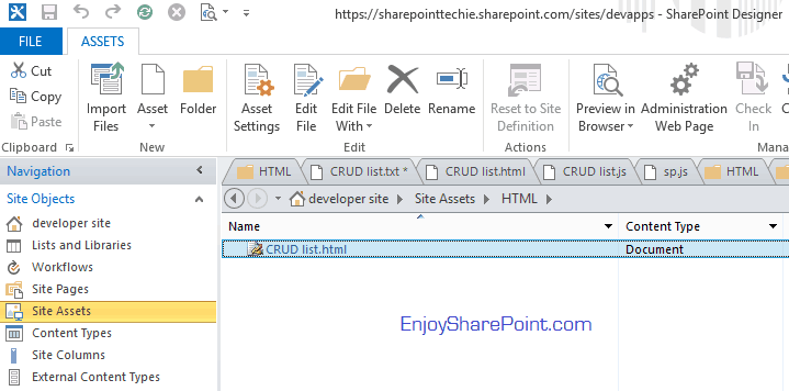 Steps to create list jsom sharepoint 2013