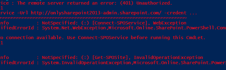 The remote server returned an error (401) unauthorized