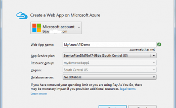 Creation of Microsoft Azure Web App failed