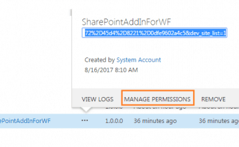 SharePoint online manually Trust SharePoint Add-in