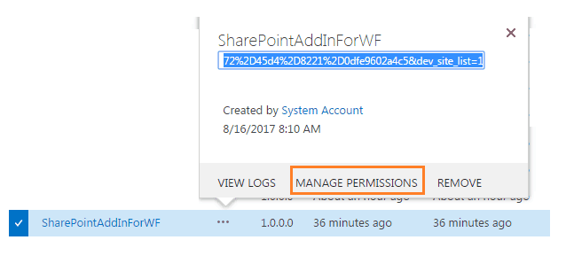 Manually Trust SharePoint Add-in in SharePoint Online
