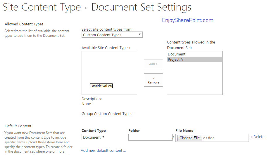 enable document sets in sharepoint online