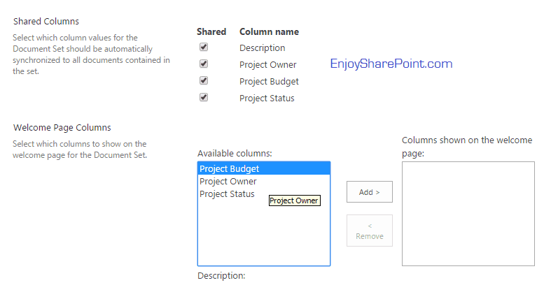 document sets in sharepoint 2016