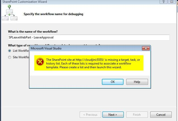 sharepoint 2013 Workflow Task and History List not found
