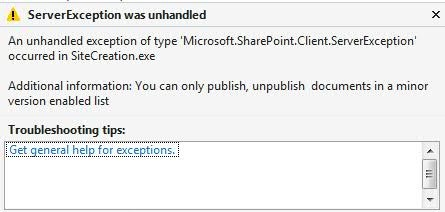 You can only publish unpublish documents in a minor version enabled list sharepoint online