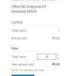 Office 365 E3 developer licenses