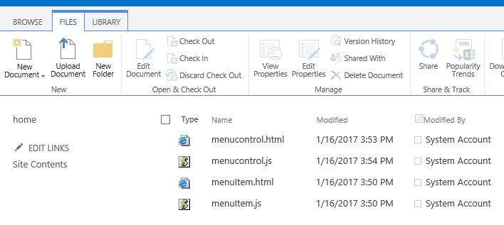 bootstrap menu SharePoint online