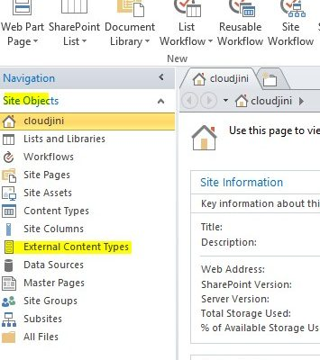 business data connectivity service sharepoint 2016