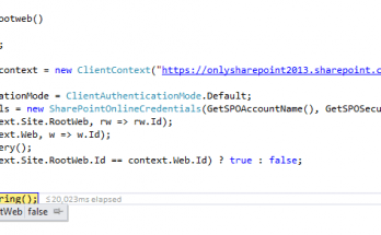 check if current site is root site using csom