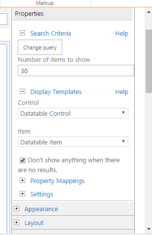 content search webpart sharepoint 2013 jquery bind table
