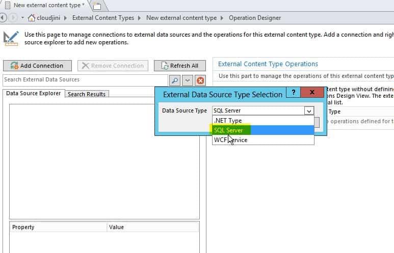 create external content type sharepoint 2013