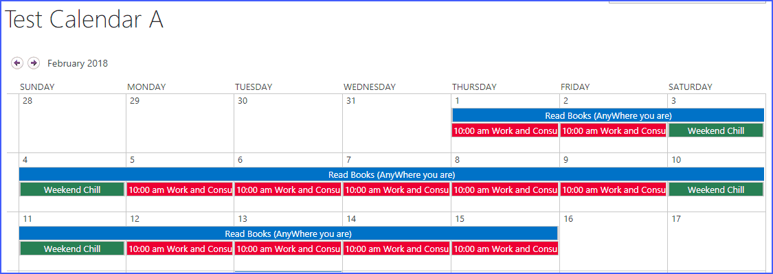 Create sharepoint calendar overlay