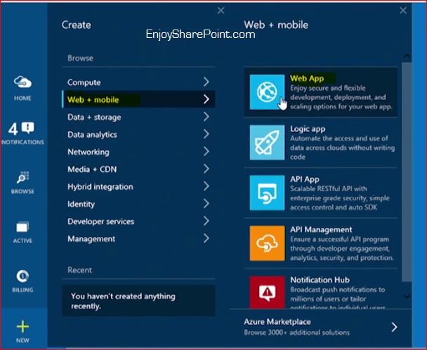 azure web app tutorial