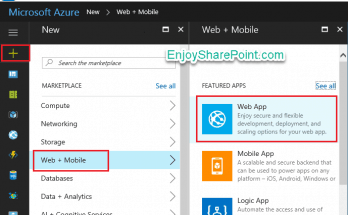 Microsoft azure create web site
