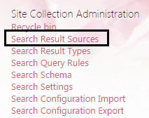 Custom result source sharepoint 2013