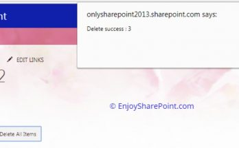 delete all items list sharepoint online jsom